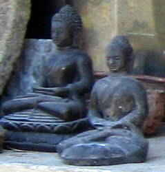 Two Buddas Sitting